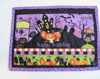 Halloween Mug rug  mini placemat snack mat
