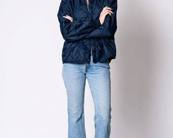 40% SUMMER SALE The Vintage Quilted Navy Blue Hunting Jacket