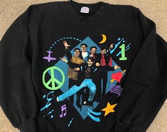 The Vintage New Kids on The Block Black Crewneck Sweatshirt