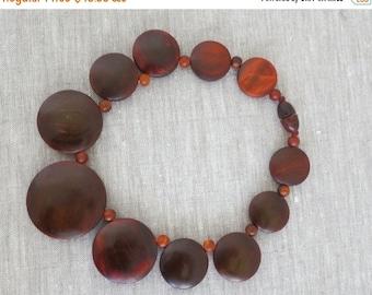 40% OFF Mahogany Circle Bead Necklace