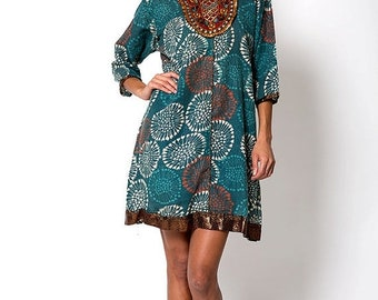40% OFF The Vintage Tribal Aztec Indian Tunic Shirt Dress