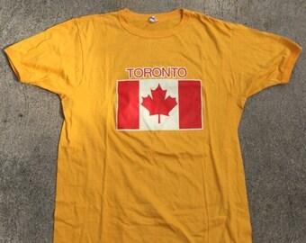 40% OFF The Vintage Yellow Toronto Canada Maple Leaf Jack TShirt