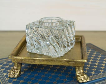Crystal Inkwell Insert - Wave Pattern