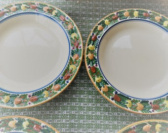 Five Gorgeous Antique Adams England Royal Ivory Hand Painted Plates