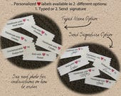 Personalized signature sew in labels custom - Autograph your Handmade items with your signature