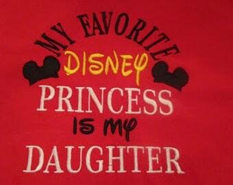 My Favorite Disney Princess Dad Embroidered Shirt