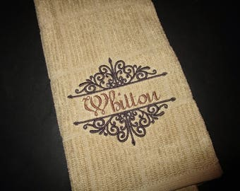 Custom Embroidered Kitchen Hand towel