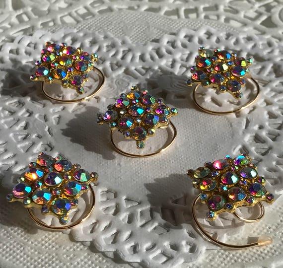 Prom Time-Ballroom Dancing Hair Swirls-Bridesmaids Hair Coils-Square Aurora Hair Spins-Bridal Party Hair Accessory