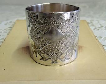 Silver Napkin Ring, Aesthetic Movement Circa 1880