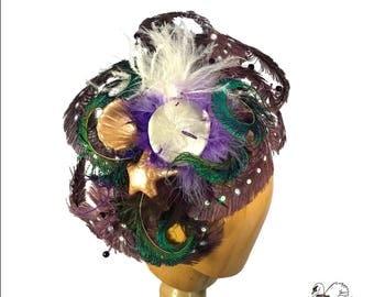 Tentacle Mermaid Feather Headpiece
