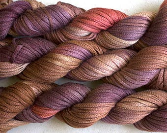 Junco, Rayon Tape Ribbon, Hand dyed  104 yds - Pheasant