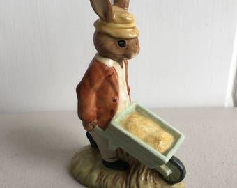 Bunnykins Figurine - Gardener Bunnykins - Royal Doulton Bunnykins