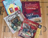 DESTASH lot #1 - 4 books - Tim Holtz - Cladine Hellmuth - price includes shipping