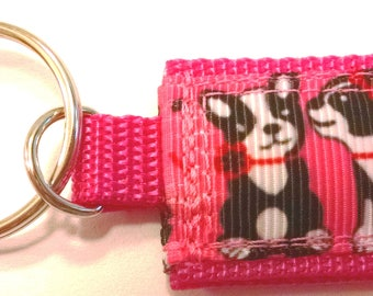 Pink Puppy Love Mini Pocket Keychain