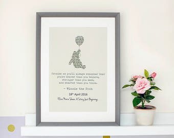 Personalised Winnie The Pooh Typography