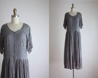 dove gray sheer maxi dress