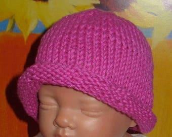 40% OFF SALE madmonkeyknits Baby Simple Roll Brim Beanie Hat pdf knitting pattern - Instant Digital File pdf download knitting pattern
