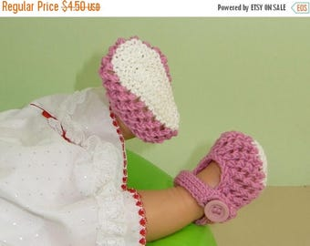40% OFF SALE madmonkeyknits- Baby Easy Lace Stitch Sandals Booties (Bootees) pdf download knitting pattern - Instant Digital File pdf knitti