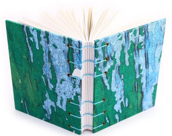 Underwater Volcano Journal, made with a scientific chart of the Juan De Fuca undersea ridge, Blank Book, Map Journal, Bathymetric Journal