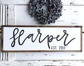 Last Name Family Sign Established Est. Wooden Family Sign