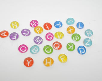 ABC letters - SMALL uppercase colorful magnet or push pin set -you choose your own COLOR - 2018 perpetual calendar, back to school, colorful