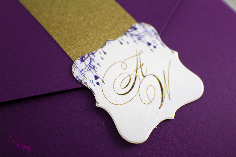 Alice in Wonderland Wedding Invitation | Glitter Wedding Invitation ...