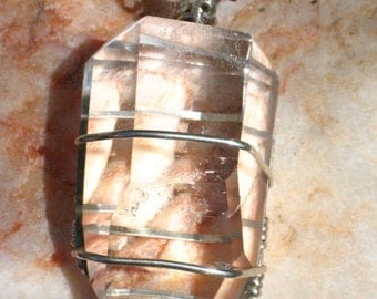 Large Generator Crystal in Sterling Silver Wire~Powerful