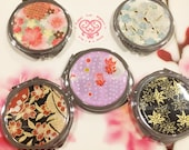 Japanese Paper Designed Folding Compact Mirrors