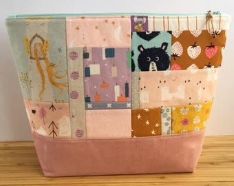 LARGE Project Bag   Patchwork Fairy Tales