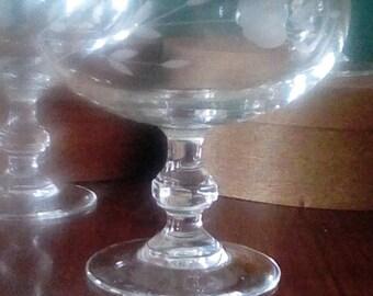 4 Princess House Champagne/Dessert Glasses/Dishes