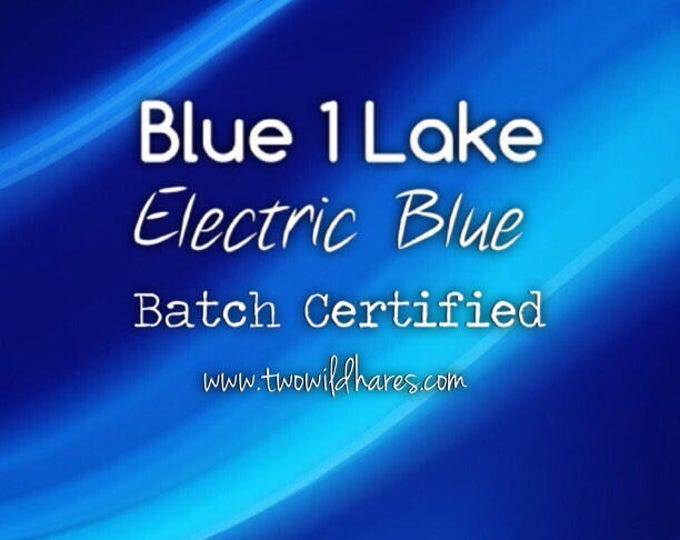 ELECTRIC BLUE LAKE Fd&c Blue 1 Lake, 41% Dye Load, Batch Certified, Powdered Cosmetic Colorant