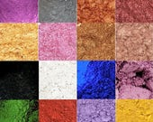 Mica Powders, Mica Pigment, Iron Oxide, Sample Set Soap Colors, Pearlized Mica, Blue, Brown, Green, Metallic, Pink, Purple, Red, Yellow