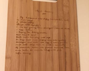 Family Heirloom Custom Engraved Cutting Board