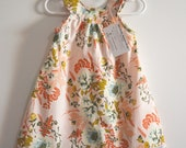 PEACH FLORAL Madison Dress - Sun Dress - Baby Dress - Toddler Dress - Soft Florals