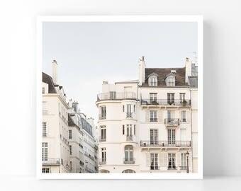 Paris Photography - Ile Saint Louis Apartments, 5x5 Paris Fine Art Photograph, French Home Decor, Wall Art, Paris Gallery Wall
