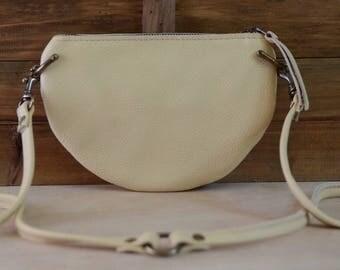 The Mini: Buttercream leather crossbody bag