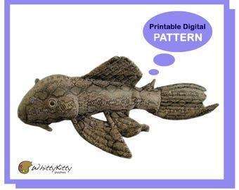 PATTERN - Pleco Plush