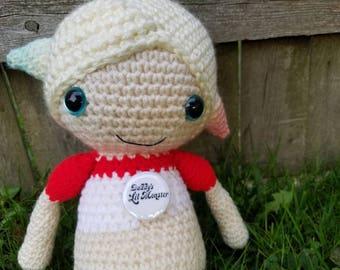 Harley Quinn Custom Made Crocheted Doll - One of a Kind