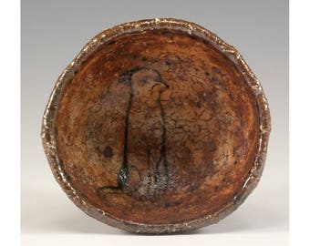 Claude - Pinched One of a Kind Footed Ceramic Wood Fired Bowl by Jenny Mendes