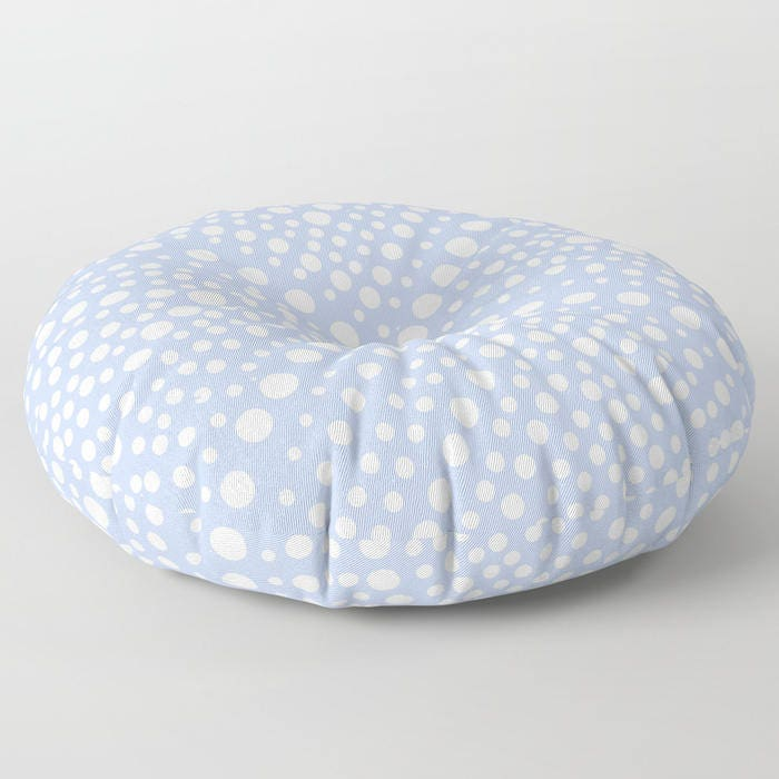 Round Floor Pillow Blue : Periwinkle floor cushion . Round cushion . Blue Pillow . Round pillow . Floor pillow . Geometric ...