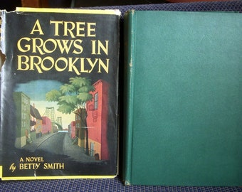 A Tree Grows in Brooklyn, by Betty Smith, New York Story, Hardback Dust Jacket, HB/DJ, 1943 BCE