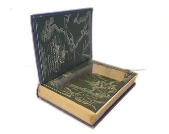 Hollow Book Safe Avalon Cloth Bound vintage Secret Compartment Security hiding place
