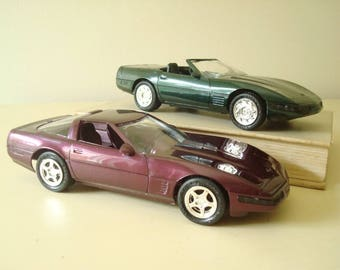 1994-95 Chevy Corvette dealer promo model car, choose 1, showroom giveaway, AMT Ertl 1/25 collectible car, miniature automobile, mint in box