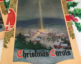 Vintage Christmas Carol Song Book Caroler's Pamphlet Booklet Holiday Music Religious Music Book, Emphera Booklet Caroling