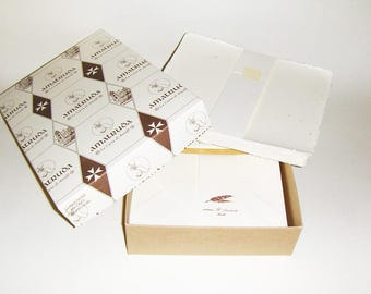 Amatruda hand-made wedding  invitations with straw,   watermarked paper,100 pz.  1039