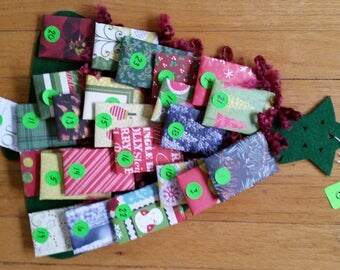 READY TO SHIP Tea Advent Calendar Assorted Wall Hanging Door Decoration Gift