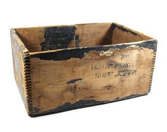 Large Vintage Wooden Crate