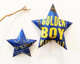 Golden Boy Blonde Ale, Tripe C Brewing, North Carolina Beer, Charlotte NC, Christmas Ornament Stars