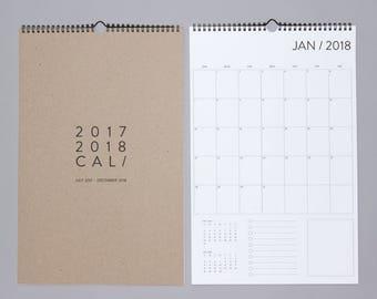 18 Month Wall Calendar 17-18
