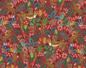 Cotton + Steel - Rifle Paper Co. - Menagerie - Jungle in Red